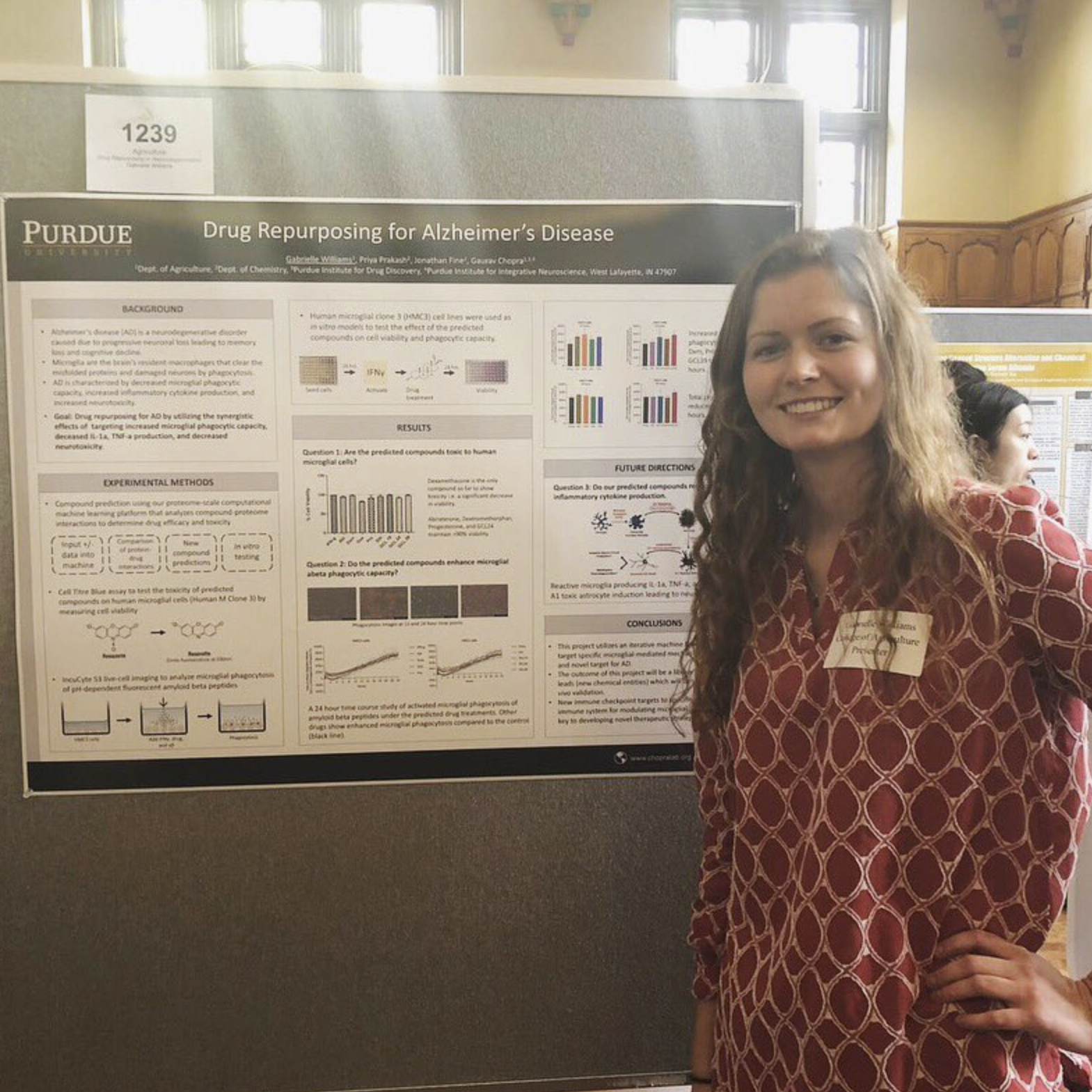Dawn and Gabby Present at the Purdue Undergraduate Research Symposium